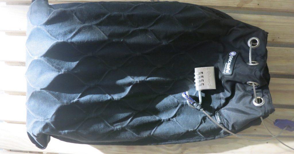 PacSafe bag and lock