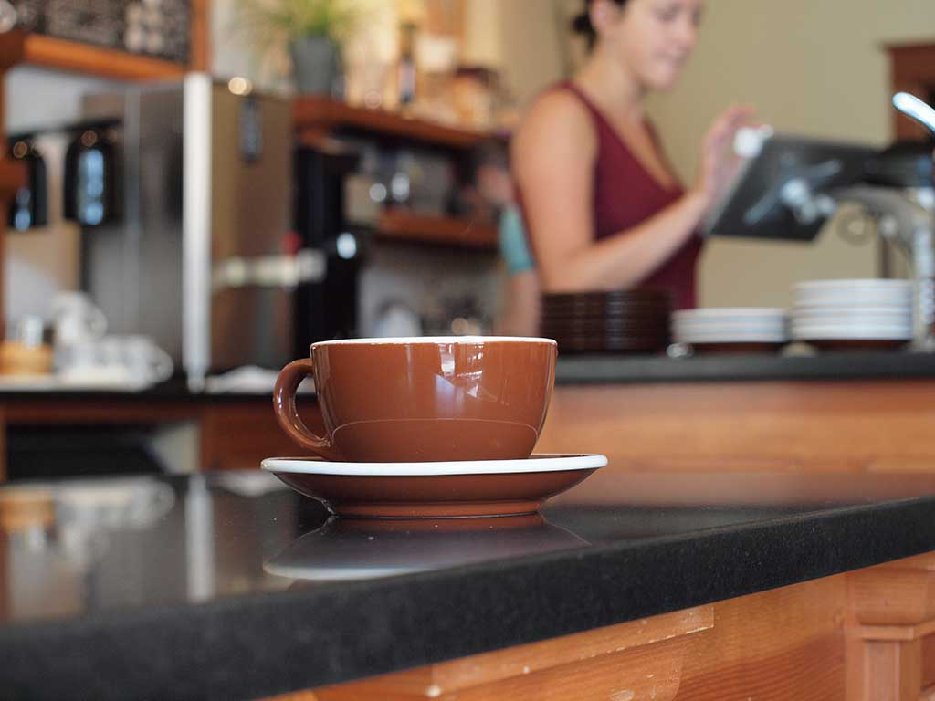 Cup of coffee at Case Study Coffee in Portland, Oregon