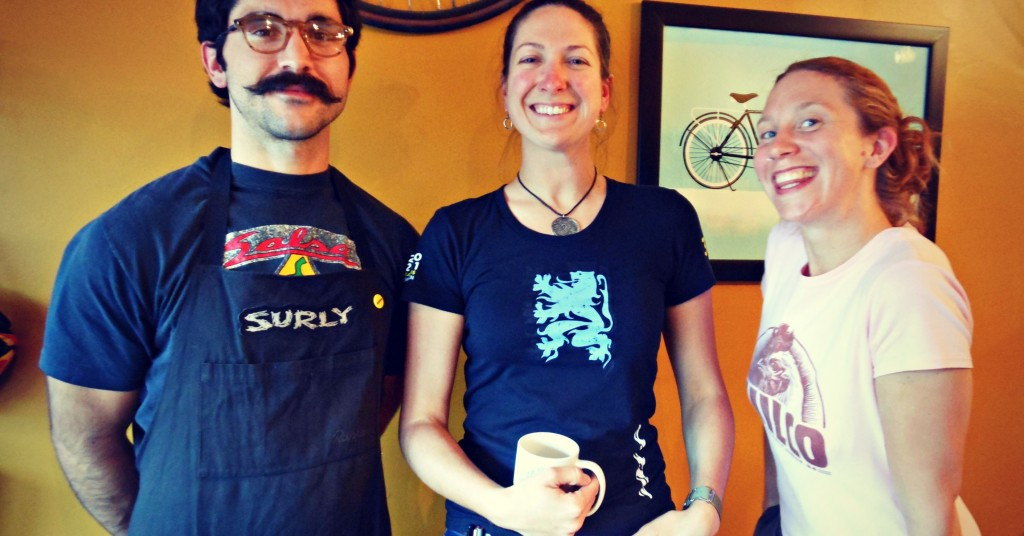 Omaha Bicycle Company: Vince, Sarah and Katie