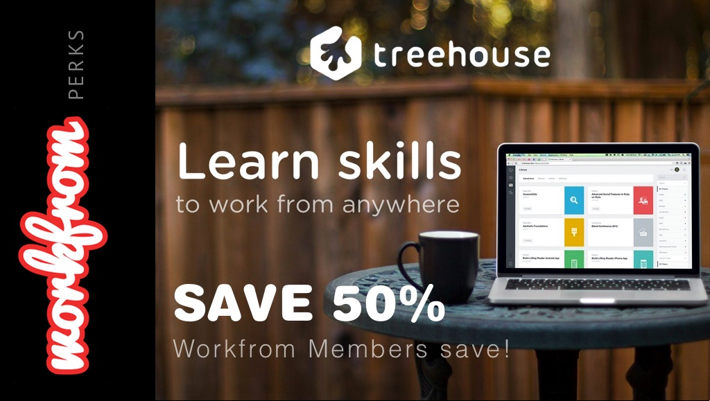Learn Skills to work from anywhere: Treehouse