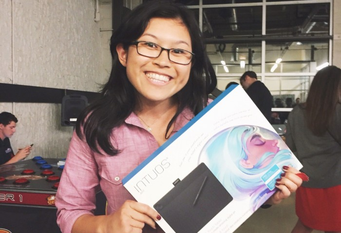 Juliana wins the Wacom Intuos Art Tablet for Tess