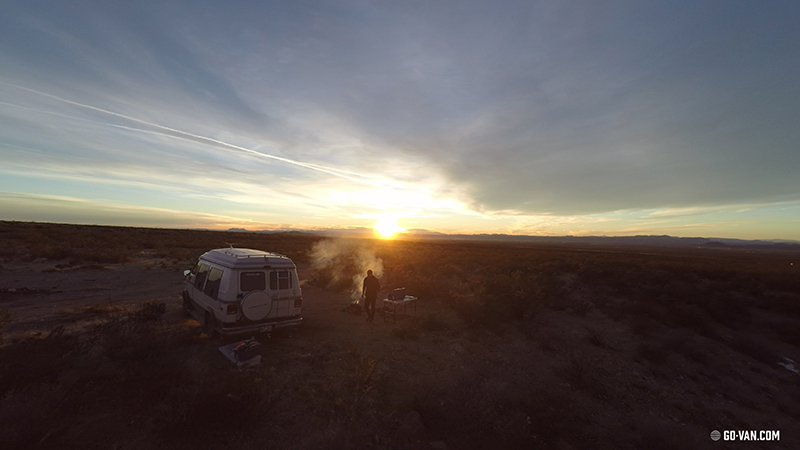 Photo of a Van in the New Mexico Desert, taken by Guillaume Beaudoin