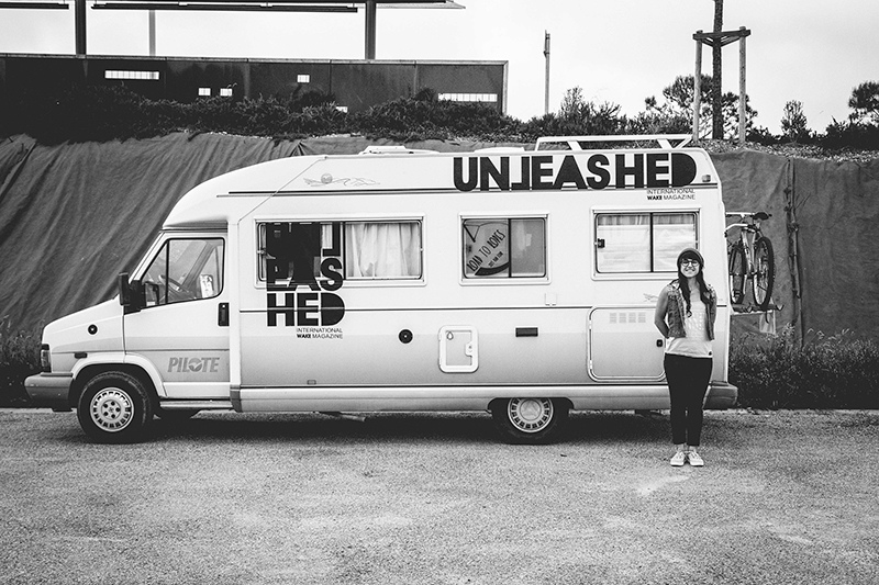 Black and White Photo of a Van taken by Claudia Lederer