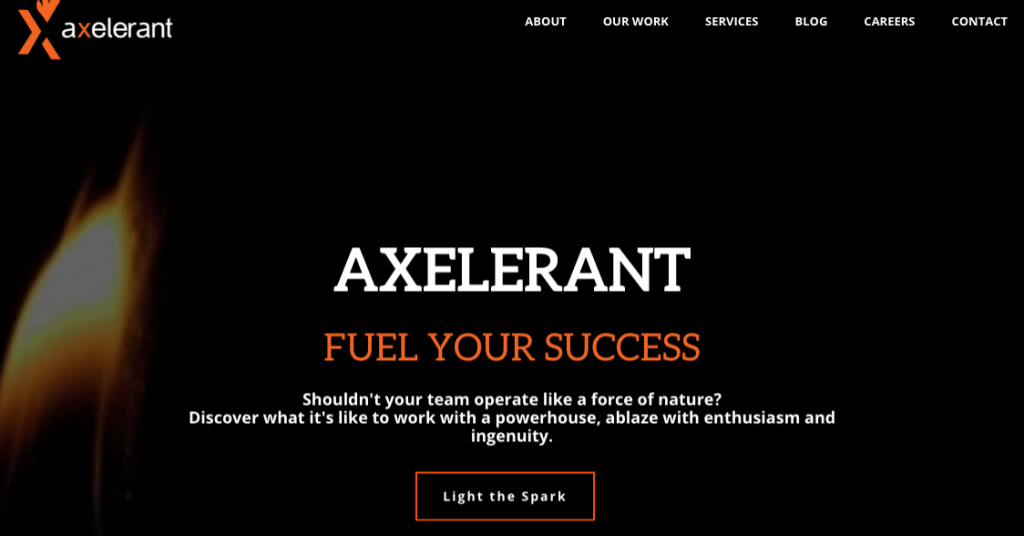 Axelerant Home Page